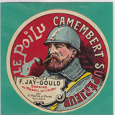L56: Fromage Camembert Le Poilu Pipe Jay-Gould Mesnil De Lieury Calvados