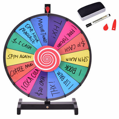 """24"""" Tabletop Dry Erase Prize Wheel of Fortune Spinning Casino Event Party Game"""