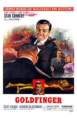 James Bond 007 Goldfinger Movie Poster 11x17 in / 28x43 cm Sean Connery #4