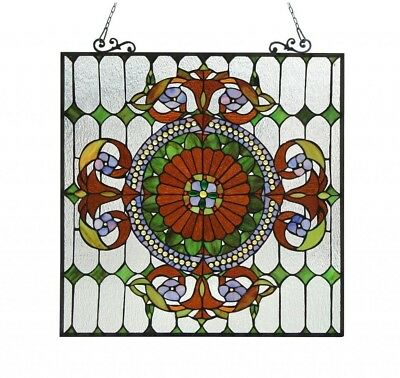 Stained Glass Panel for Window Tiffany Style Suncatchers Victorian Look Classic