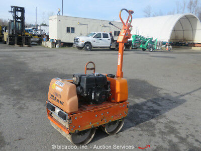 2012 Mikasa MQ MRH800GS Double Drum Walk Behind Roller Compactor Gas Honda 13HP