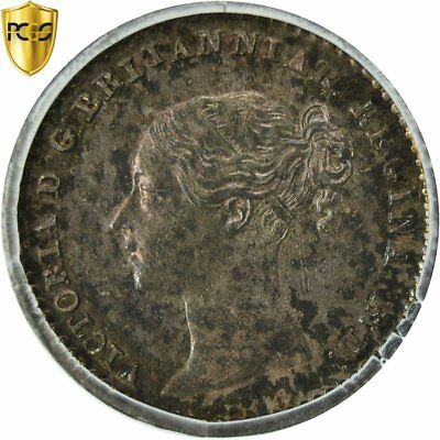 [#481940] Coin, Great Britain, Victoria, Penny, 1845, PCGS, PL66, Silver
