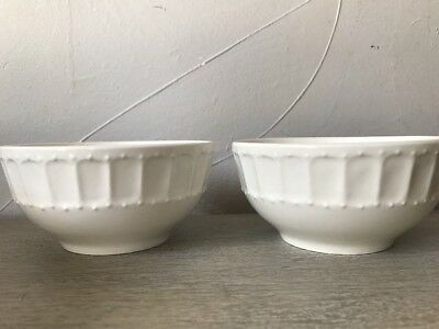 Gibson White Elements Paloma Embossed Pair of 2 Small Bowls