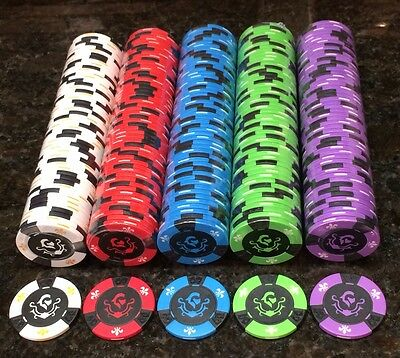 RARE New Regal Knight 11.5 Gram Clay Composite Poker Chips ( 1000 ) Chips *NICE*