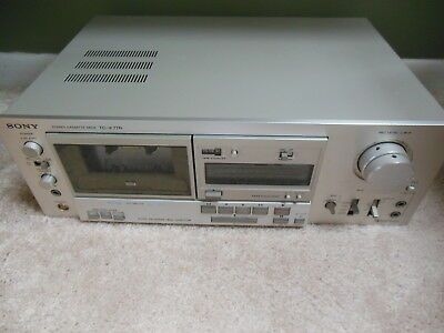 Vintage Sony Stereo Cassette Deck Tc-K77R For Parts Or Repair