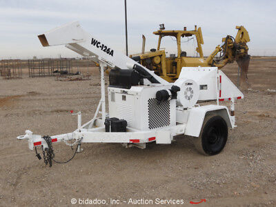 "2010 Altec WC126A 6"" Towable Wood Chipper Brush Shredder Trailer bidadoo"