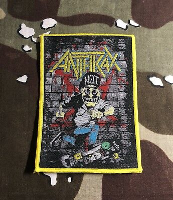 Anthrax Not Man Woven Patch A018P Metallica Slayer Testament Megadeth