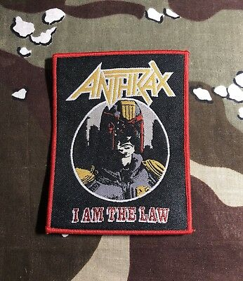 Anthrax I Am The Law Woven Patch A019P Slayer Metallica Testament Megadeth
