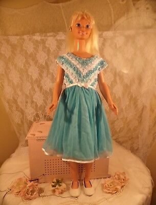 Vintage-1992-My Size Blonde Barbie Doll Life Size 3 Inches Tall Mattel