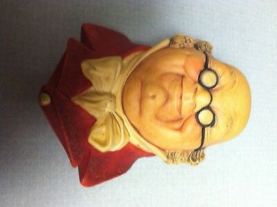 Bossons Head England Chalkware Lot of 2 Mr Pickwick 1964  Mr Bumble 1967
