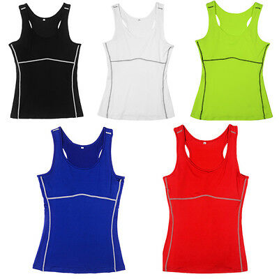 Womens Ladies Sports Back Vest Stretch Cool Dry Wicking Fitness Gym Yoga Run