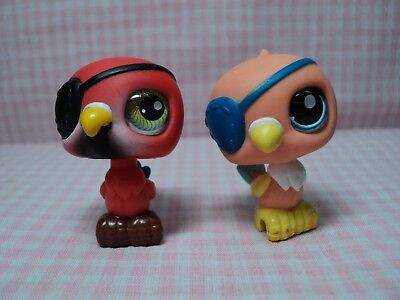 Discontinued Rare Authentic LPS Lot of Twin Pirate Birds(Realist Eyes)