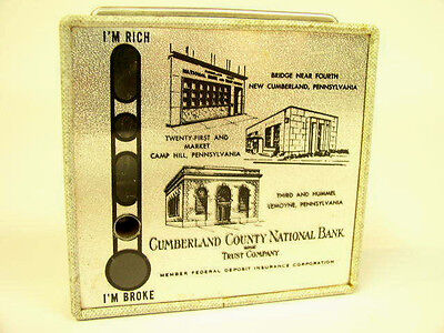 Vintage Locking New Cumberland Pa County National Bank & Trust Co Promo Bank