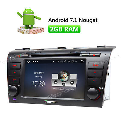 """7"""" Car Stereo DVD GPS Navi Bluetooth Android 7.1 4G CD Player for Mazda 3 2005 c"""