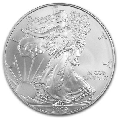USA 1 Once d'argent pur 999 Aigle / 2009 USA 1 Oz Fine Silver Eagle 999 Liberty
