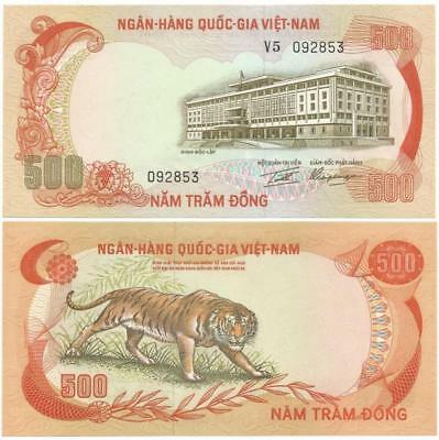 "1972 REPUBLIC of ""SOUTH VIET NAM"" Choice 500 Dông Note, COUNTRY NO LONGER EXISTS"