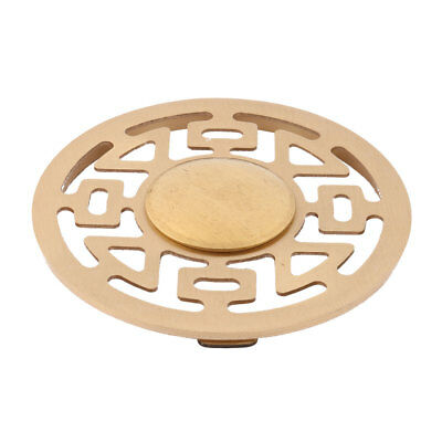 Laundry Stainless Steel Round Water Hair Filter Floor Drain Cover Lid Gold Tone