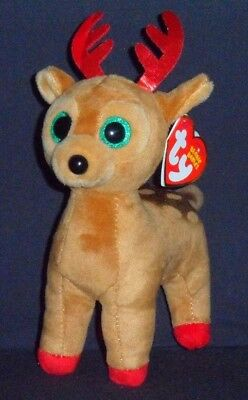 TY TINSEL the REINDEER BEANIE BABY – MINT with MINT TAGS