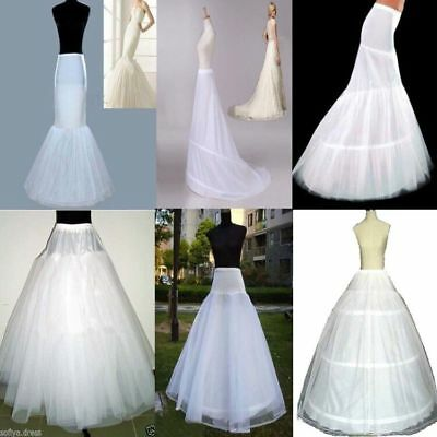 US Stock White Wedding Petticoat Bridal Hoop Crinoline Underskirt Skirt Slip