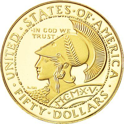 [#481791] United States, Medal, Reproduction 50 dollars 1915, MS(65-70), Gold
