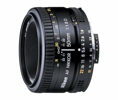 Nikon AF Nikkor 50mm f/1.8D Lens Brand New Retail Packaging