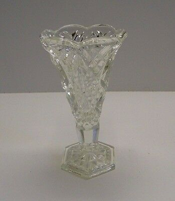 Small Cut Glass Vase 110mm Tall