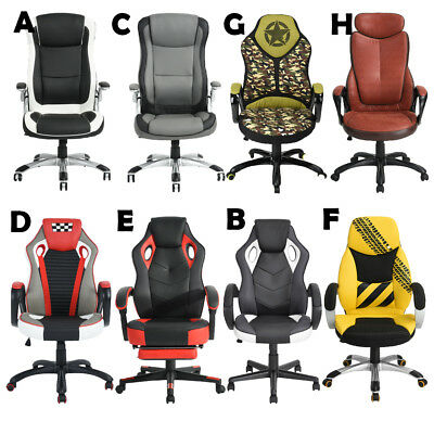 Racing Style Gaming Chair Office Computer High Back PU Leather Ergonomic Seat US