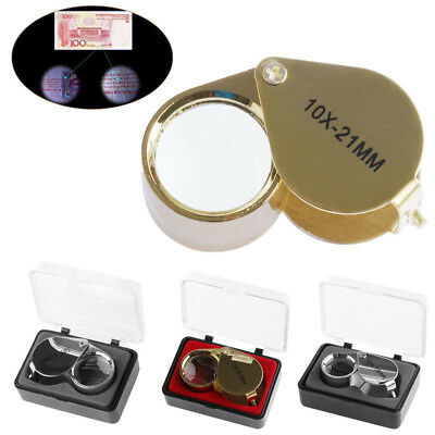 IT- Triplet Jeweler Eye Loupe Magnifier Magnifying Glass Jewelry with Box Conven