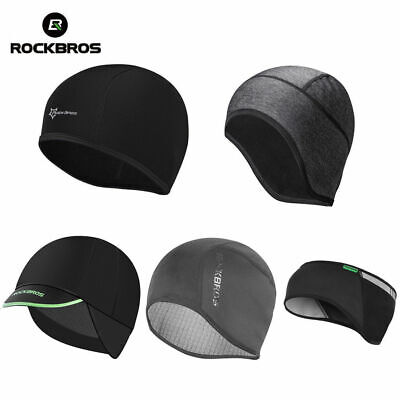 RockBros Winter Cycling Hiking Running Windproof Warm Cap Hat & Earmuffs Black
