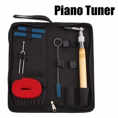 Professional Piano Tuning Hammer Mute Wrench Handle Kit Tools With Case AU