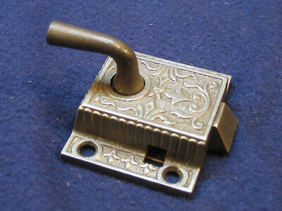 Antique Ornate Eastlake Cast Iron Cabinet Door Latch Architectural Salvage