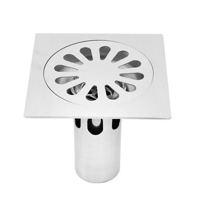 Dormitory Stainless Steel Floor Drain Cover Strainer Hair Stopper Silver Tone