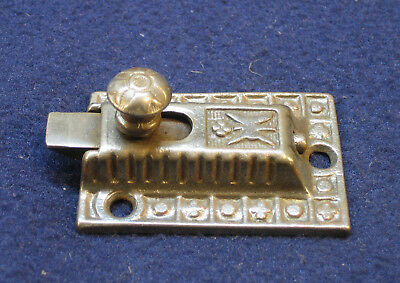 Antique Ornate Eastlake Cast Iron Cabinet Door Latch - SARGENT
