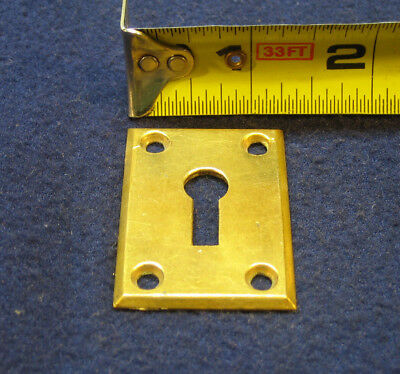 Antique Cast Brass Mortise Door Key Hole Escutcheon Plate Architectural Salvage