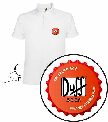 Camiseta Polo T-Shirt Duff Beer Cerveza Duffman Divertida Funny Gift Sil Out