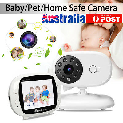 Wireless 3.5'' LCD Digital Baby Monitor Audio Video Security Camera Night Vision