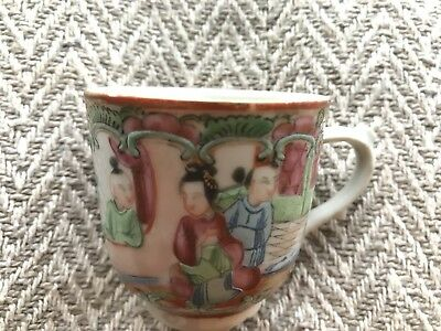 Antique 18th / 19th Century Chinese Decorated Tea or Coffee Porcelain Cup Pretty