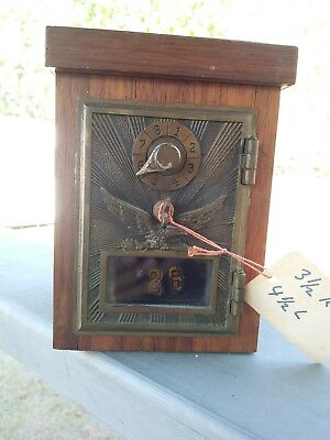 Antique Bank Flying Eagle Mail Post Office Box Door US Brass with Combination