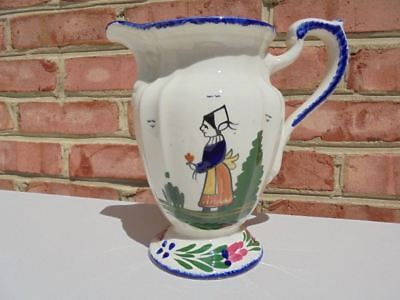 Vintage Blue Ridge Pottery Peasant Pattern Water Pitcher 8 1/4""