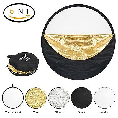 ESDDI 22inch Reflector 5 in 1 Portable Light Reflector Photography with B... New