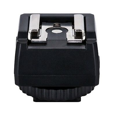 JJC Standard Hot Shoe Adapter with Extra PC sync connection Port & 3.5mm ... New