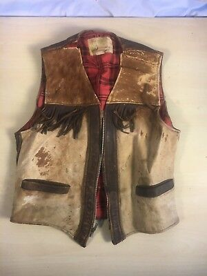**EX RARE Boys Vintage 1940's Pal O Mine Iconic Western Horsehair Vest Size 10**