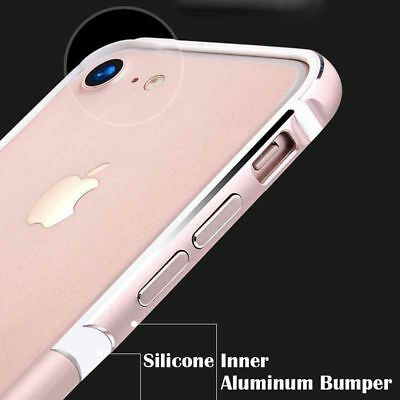 Aluminum Silicone Shockproof Bumper Cases Covers for iPhone 6 6S 7 7 Plus 5 5SE