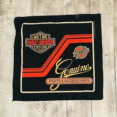 Harley Davidson Genuine Parts and Accessories Scarf Bandanna Black and Orange