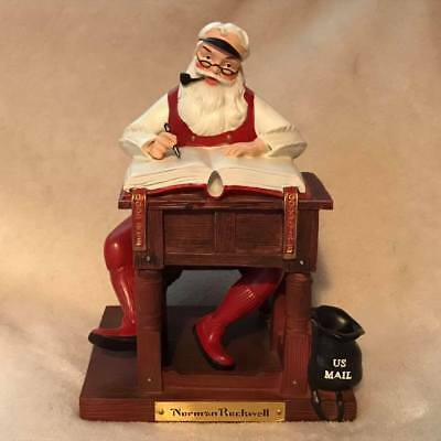 Norman Rockwell Santa FTD Checking His List US Mail Perfect Cond. FREE SHIP USA
