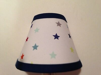 Stars Fabric Nursery Night Light M2M Pottery Barn Kid Bedding
