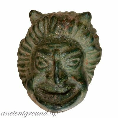 Extremely Rare Roman Ornament Of A Goddess Sater Mask Circa 300-400 Ad