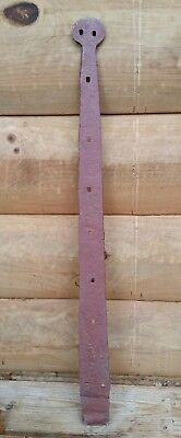 "Antique Hand Forged Cast Iron Strap Hinge Barn Shed House Door 28.75"" Long"