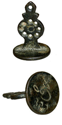 234 Ah Ottoman Bronze Seal With Dated And Signature , Intact