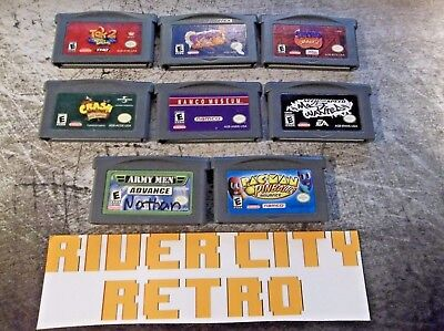 LOT of 8 Nintendo Game Boy Advance GBA Games Good Titles Crash Spyro Tak Pac-Man
